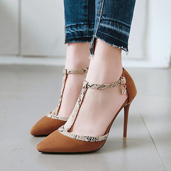 Naisten Keinonahasta Piikkikorko Sandaalit Avokkaat Suljettu toe jossa Solki kengät