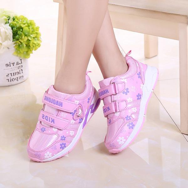 Girl's Ronde neus imitatieleer Mesh Flat Heel Flats Sneakers & Sportschoenen met Velcro