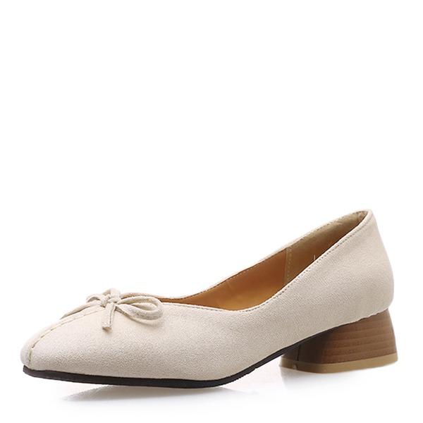 De mujer Cuero Tacón ancho con Bowknot zapatos