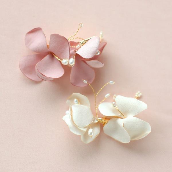 En forme de fleur Alliage/Satiné Des peignes et barrettes