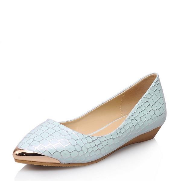 Frauen PU Flascher Absatz Flache Schuhe Schuhe