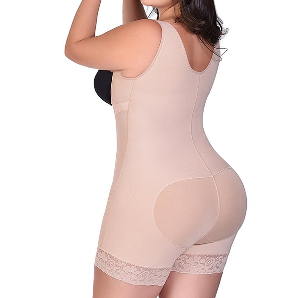 Women Classic Polyester/Chinlon Breathability High Waist Bodysuit Shapewear