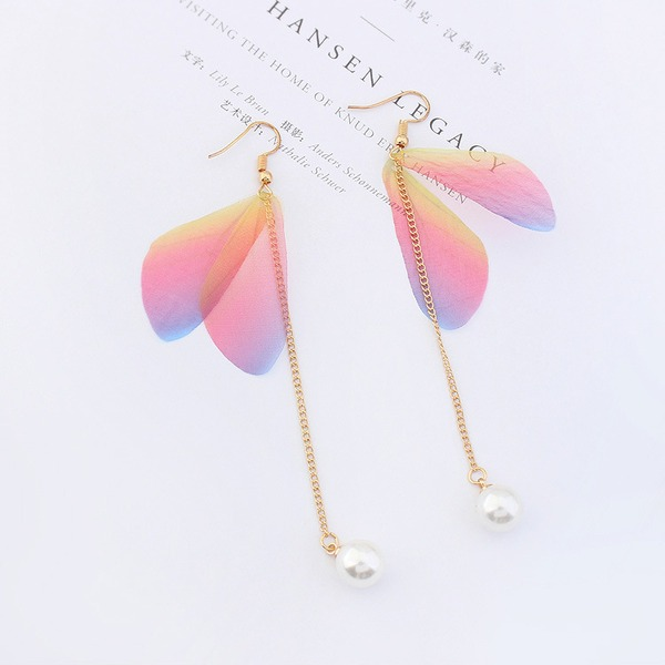 Fashional Imitation Pearls Copper Gauze With Imitation Pearl Ladies' Fashion Earrings
