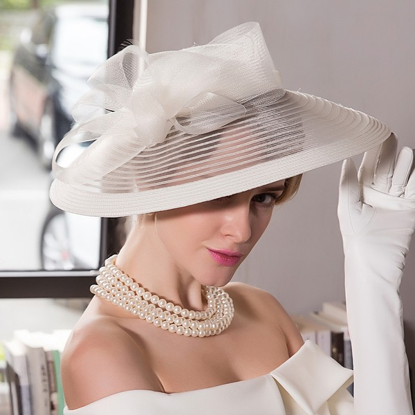 Dames Glamour Batiste Chapeau melon / Chapeau cloche/Kentucky Derby Des Chapeaux/Chapeaux Tea Party