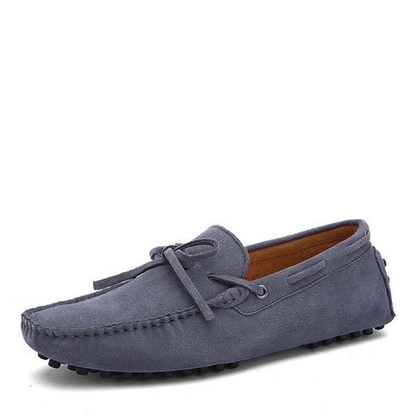 Homens Camurça Sapatos De Barco Casual Mocassins Masculinos