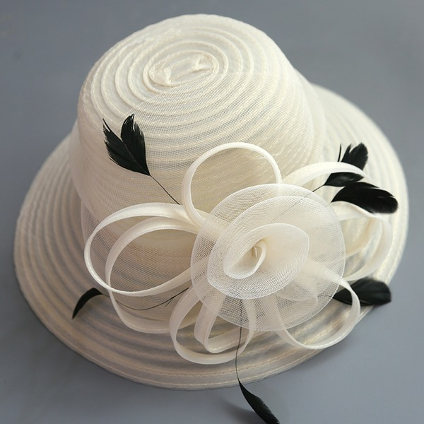 Ladies' Special/Glamourous/Elegant/Simple/Eye-catching/Fancy Net Yarn With Flower Fascinators