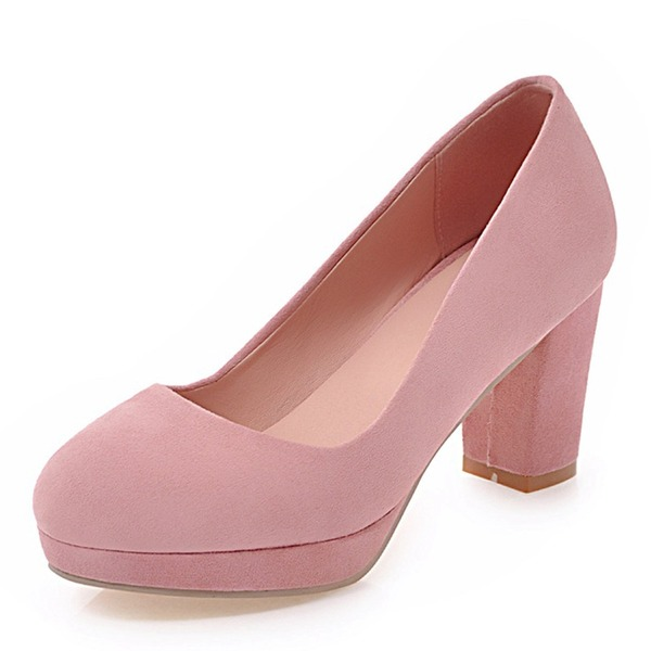 Naisten Keinonahasta Chunky heel Avokkaat Platform Suljettu toe jossa Muut kengät
