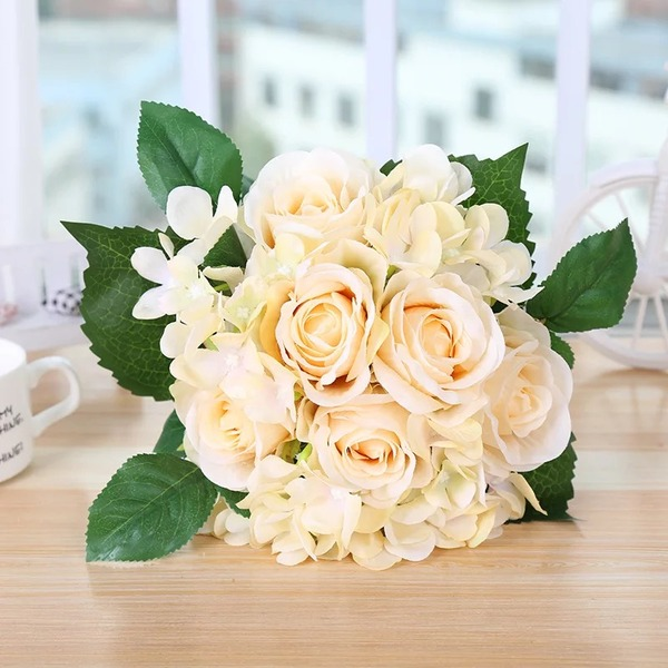 Elegant Free-Form Silk Flower Decorations/Wedding Table Flowers -