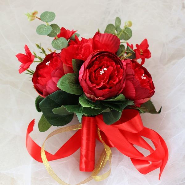 Hånd Bundet Silke blomst Brude Buketter/Brudepike Buketter (som selges i et enkelt stykke) -