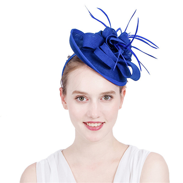 Dames Simple/Accrocheur avec Feather Chapeaux de type fascinator