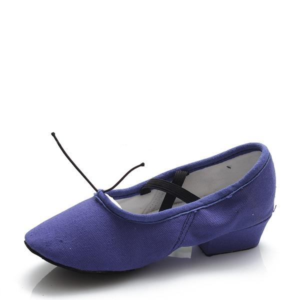 Femmes Toile Ballet Ventre Chaussures de danse