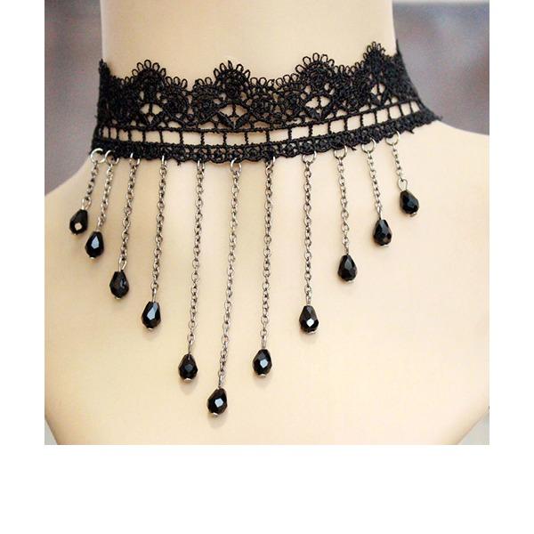 Sexy Kristall Lace mit Nachahmung Kristall Lace Damen Mode-Halskette
