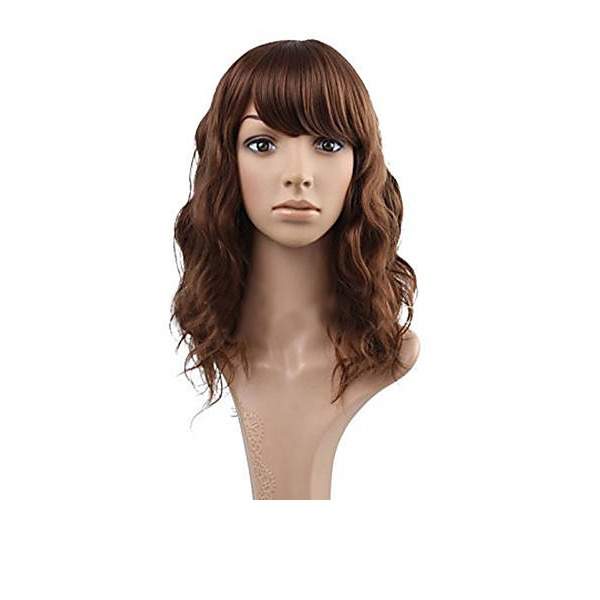 4A Non remy Water Wave Human Hair Full Lace Wigs