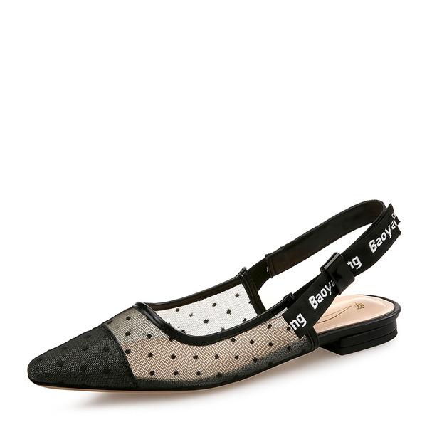 Kadın Örgü Düz Topuk Sandalet Daireler Kapalı Toe Ile Diğerleri ayakkabı