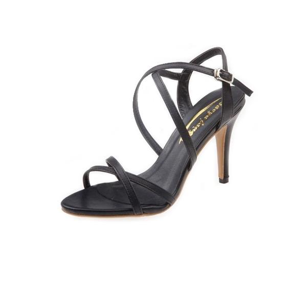 Vrouwen Kunstleer Stiletto Heel Sandalen Slingbacks met Gesp schoenen