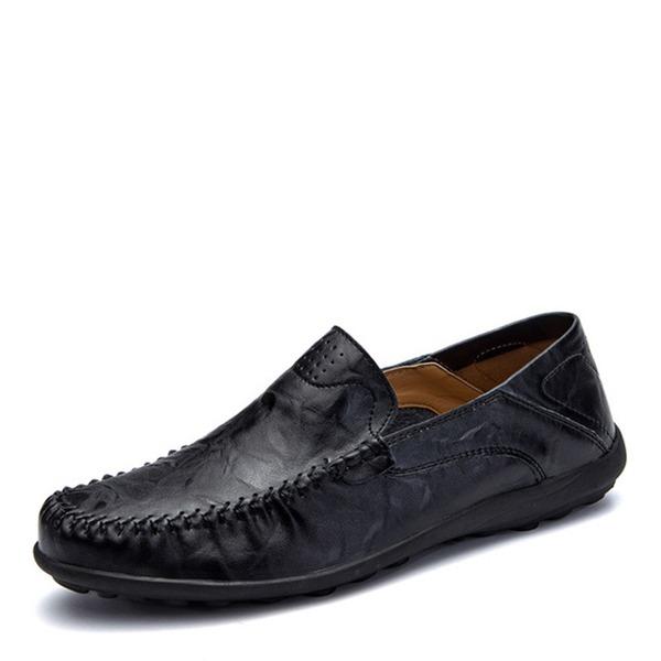 Menn Egte Lær Båtsko Avslappet Loafers til herre