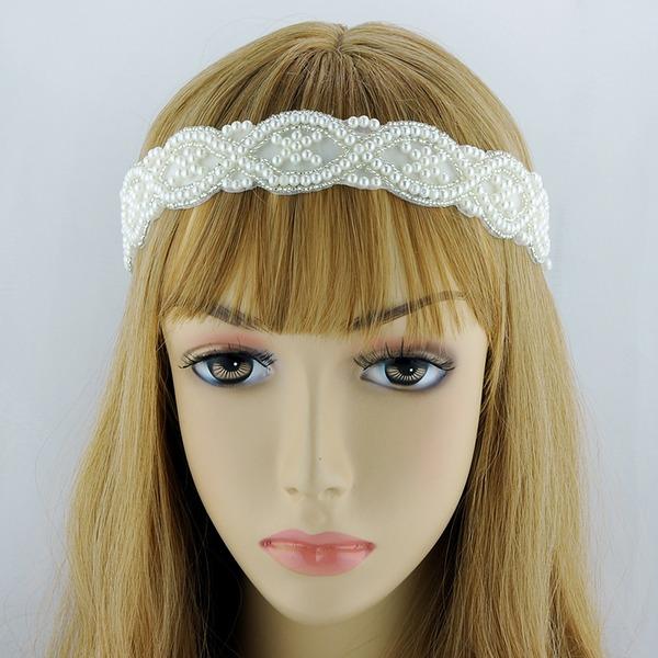 Damen Hübsche Satin Stirnbänder mit Venezianischen Perle (In Einem Stück Verkauft)