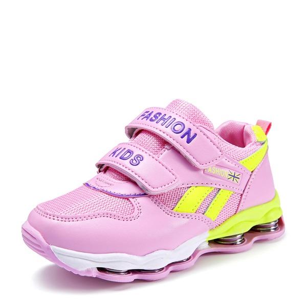 Pigens Round Toe Mesh Flad Hæl Fladsko Sneakers & Atletik med Velcro