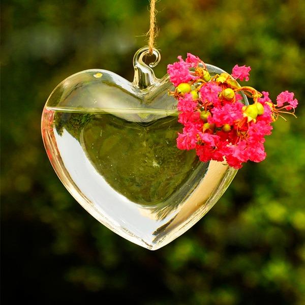 Attraktiv Herz-Entwurf Glas Vase