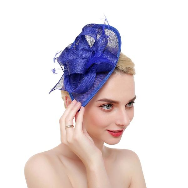 Ladies ' Efterspurgte/Classic/Enkle/Smuk/Fancy Netto garn med Fjer Fascinators