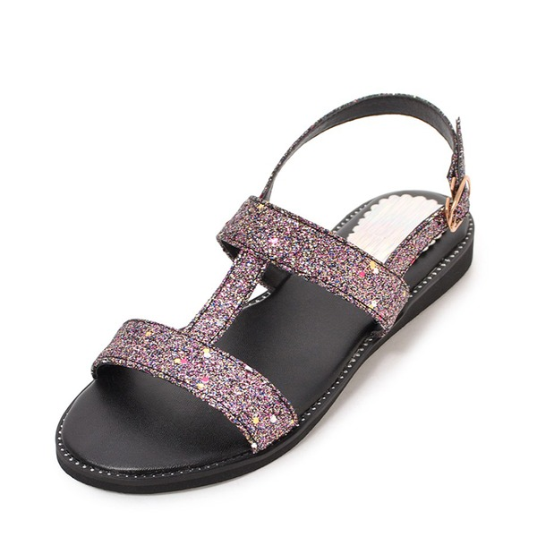 Women's PU Flat Heel Sandals Flats With Buckle shoes