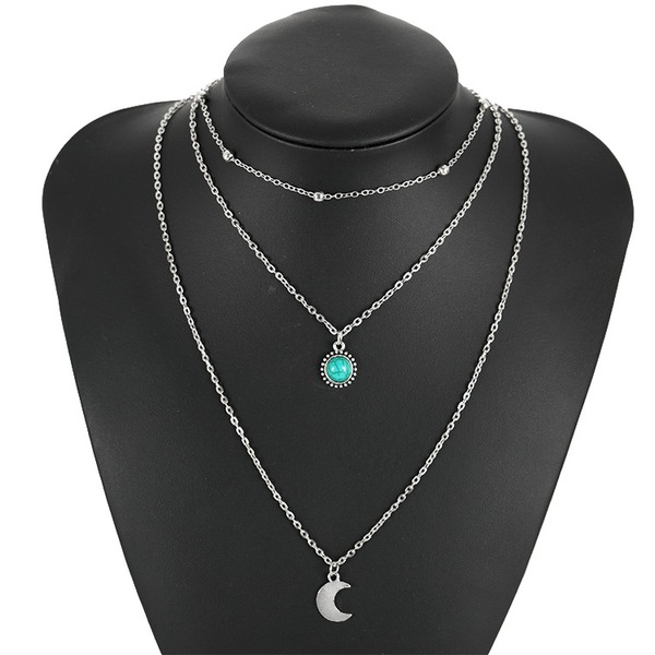 Vintage Alloy Ladies' Fashion Necklace (Sold in a single piece)