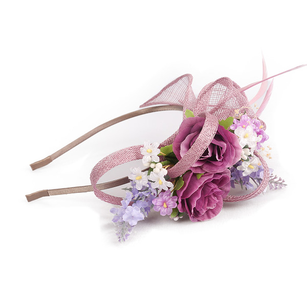 Dames Simple/Gentil/Jolie Batiste avec Feather/Une fleur Chapeaux de type fascinator