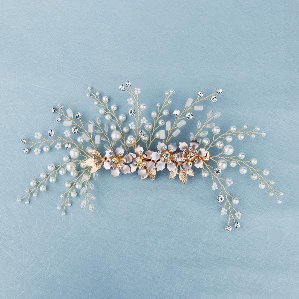 Smukke Legering Hårnåle med Rhinsten/Venetiansk Perle (Sælges i et enkelt stykke)