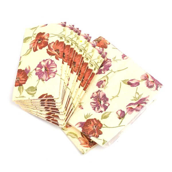 Härlig Rose Pattern Middag Servetter (Set av 50)