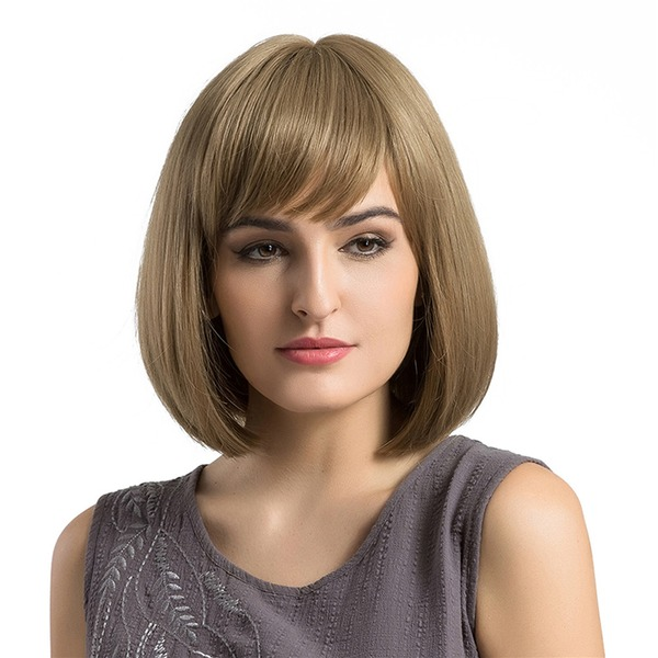 Straight Synthetic Hair Capless Wigs 290g