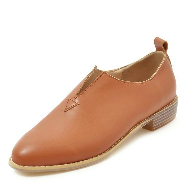 Женщины PU Устойчивый каблук На каблуках обувь