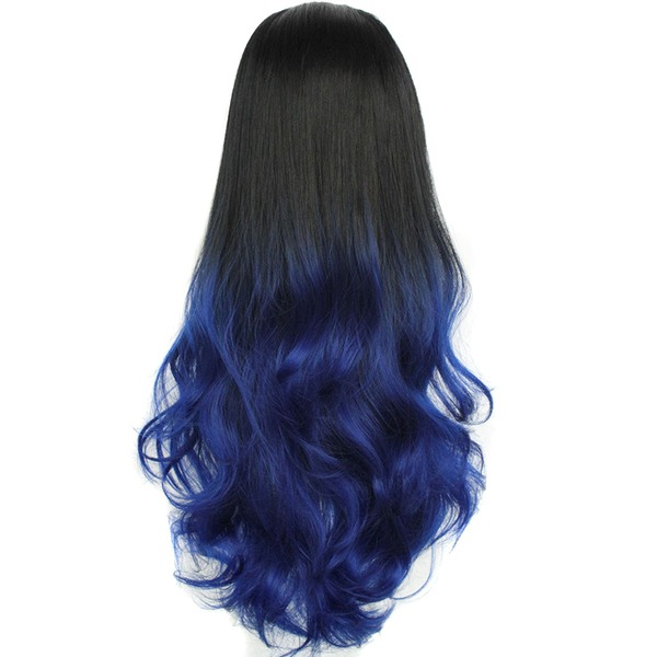 High temperature Wavy Long Layered 3/4 Wigs Synthetic Wigs