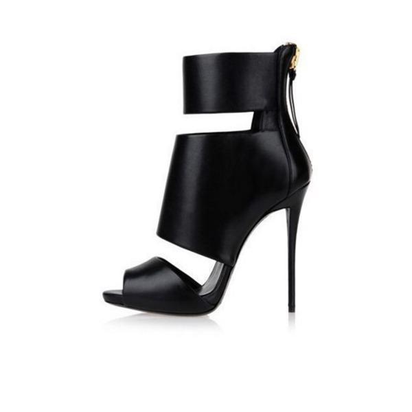 Kvinnor Konstläder Stilettklack Pumps Peep Toe med Andra skor