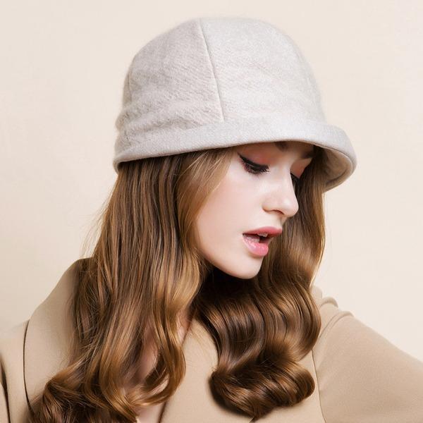 Dames Élégante/Simple/Jolie/Style Vintage de mélanges de laine Disquettes Chapeau