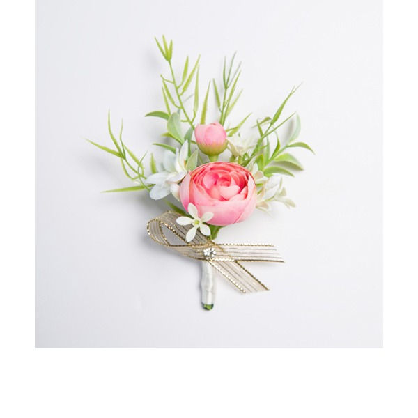 Pretty Free-Form Fabric Boutonniere (Sold in a single piece) -