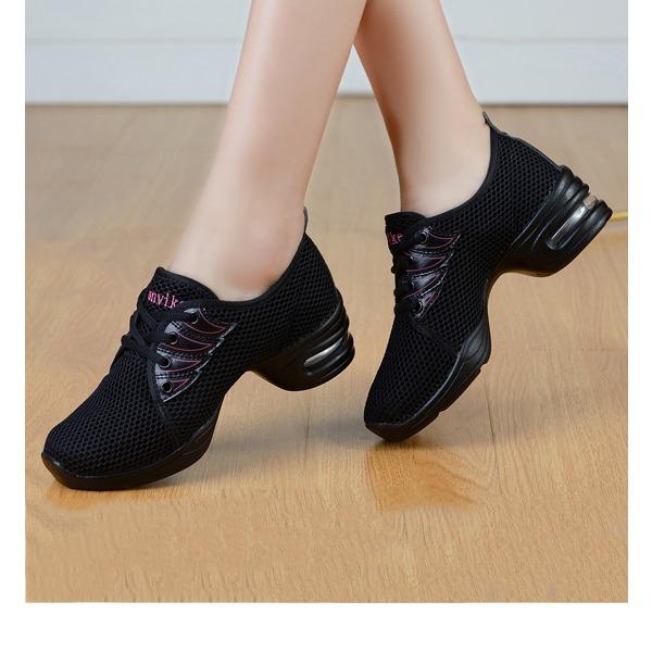 De mujer Tejido Zapatillas Zapatillas con Cordones Zapatos de danza