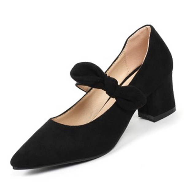 Frauen Kunstleder Stämmiger Absatz Absatzschuhe Schuhe