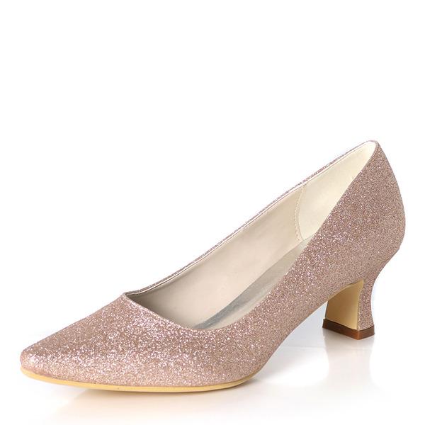 Kvinner Glitrende Glitter Stor Hæl Pumps
