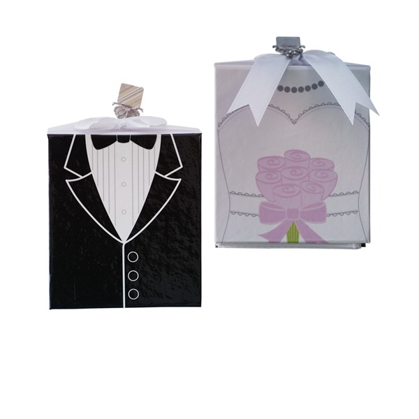 Side by Side Groom And Bride Photo Album Wedding Favors (Sold in a single piece)