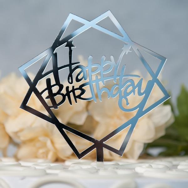 Tillykke med fødselsdagen Akryl Kage Topper