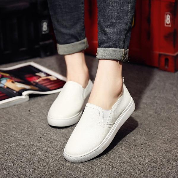 Kadın Gerçek Deri Düz Topuk Daireler ayakkabı