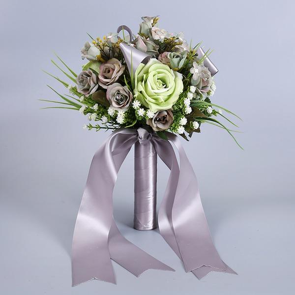 Enkle og Elegante Fri Form Stoff Brude Buketter -