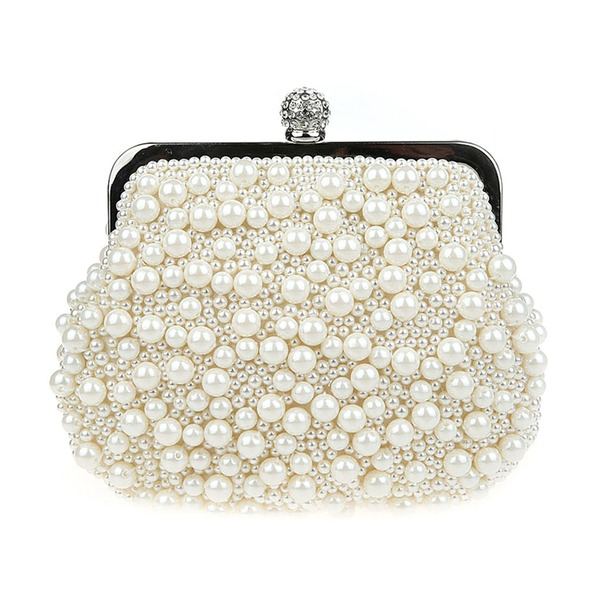 Elegant Pärla Grepp/Handledsväskor/Totes väskor/Brudväska/Mode handväskor/Makeup Väskor/Lyx Bag