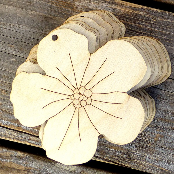 Creative Gifts Classic Flower Wooden (Set of 10) Non-personalized Gifts