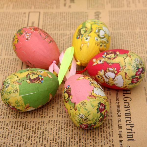 Diseño Huevo Plástico Diseño Huevo (Juego de 6)