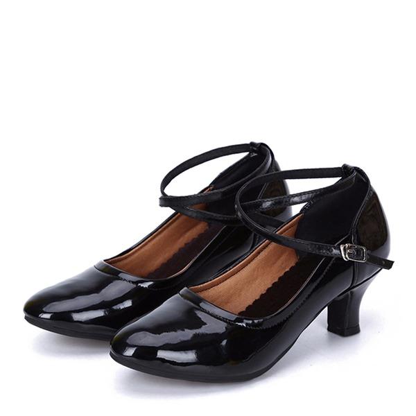 Dámské Koženka Na podpatku Taneční Taneční boty