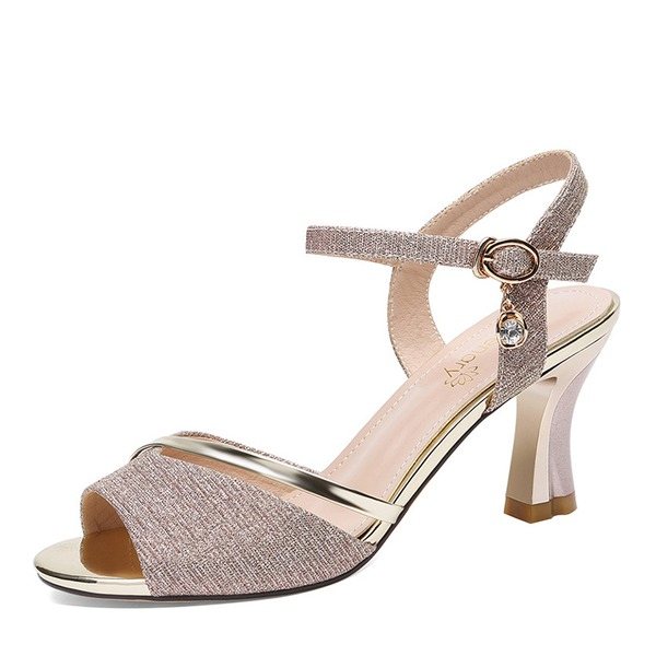 Women's Leatherette Stiletto Heel Peep Toe Sandals Slingbacks