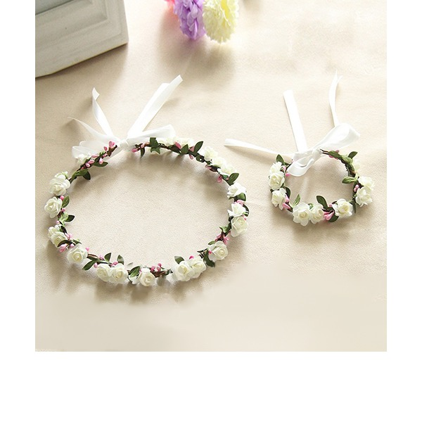 Lovely Single Flower Round Cloth Flower Sets - Wrist Corsage/Headdress Flower