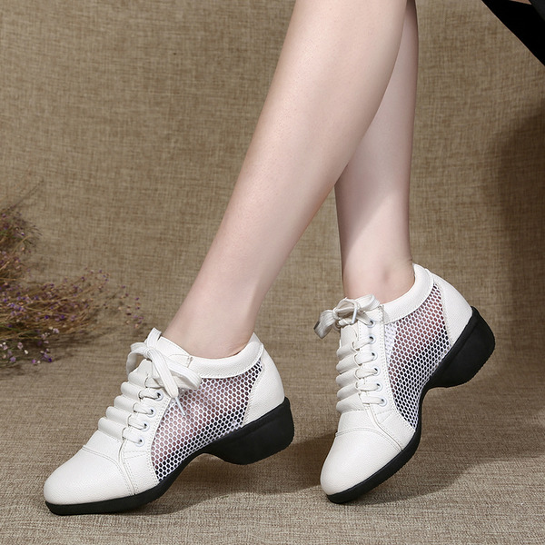 Donna Similpelle Sneakers stile moderno Jazz Scarpe da Ginnastica Scarpe da ballo