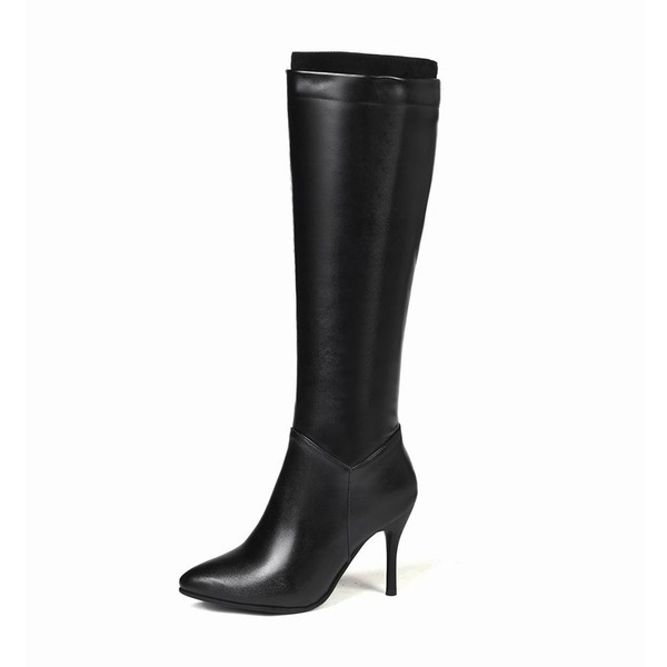Women's Leatherette Stiletto Heel Pumps Boots Knee High Boots With Others shoes